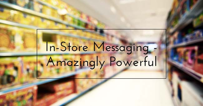 in store messaging