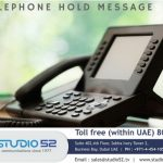 telephone hold message service