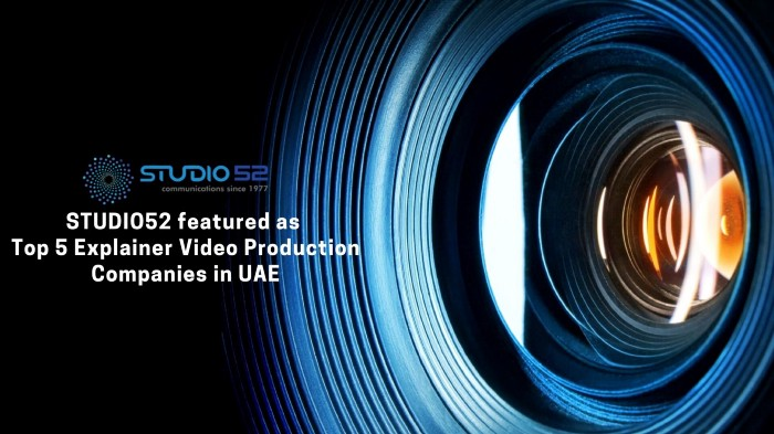 Studio52 Makes it to Vidsaga's list of Top 5 Explainer Video Production Companies in the UAE 2021
