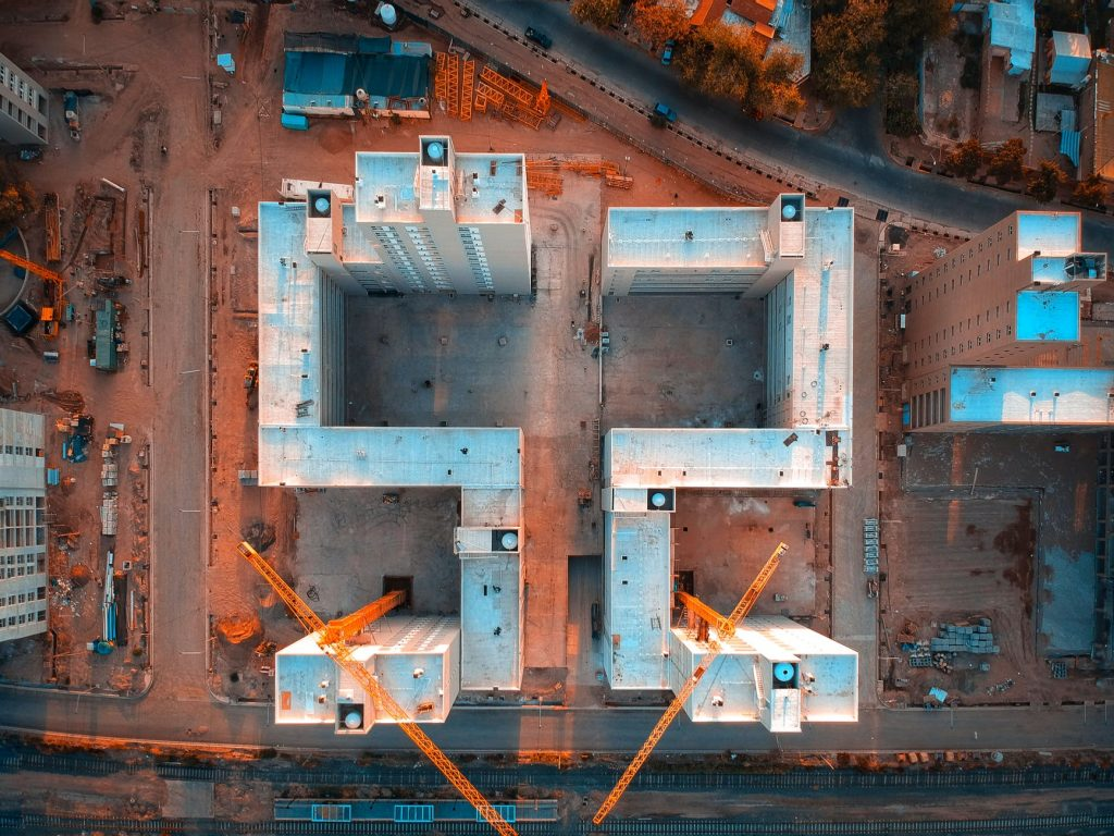 Construction Sites aerial photography