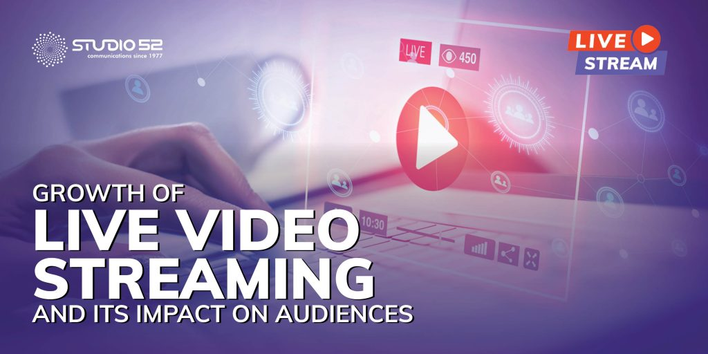 Growth of Live Video Streaming and Its Impact on Audiences