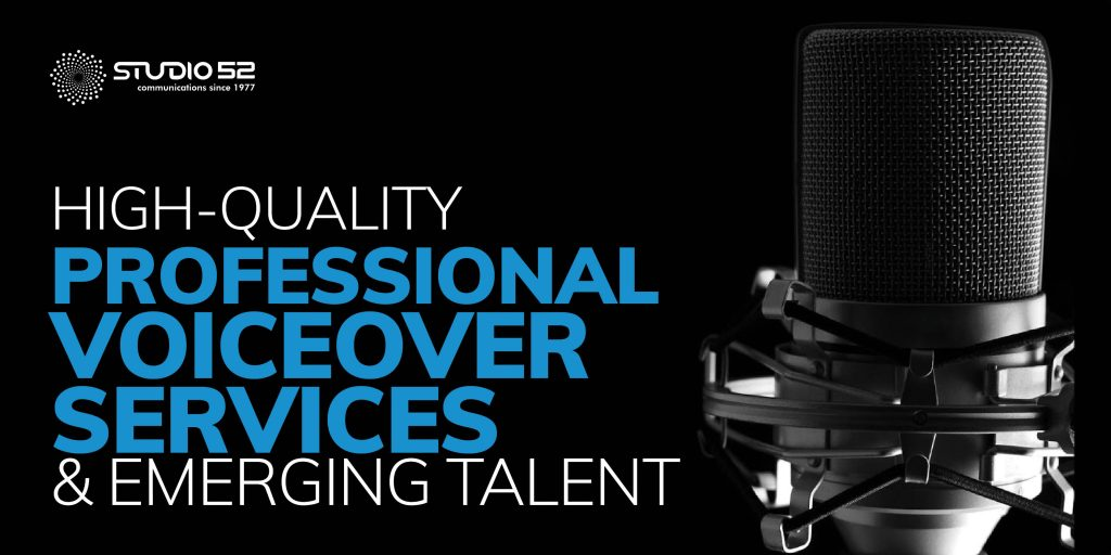 High-quality professional voiceover services and emerging Talent
