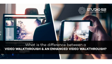 What is the difference between a video walkthrough and an enhanced video walkthrough?